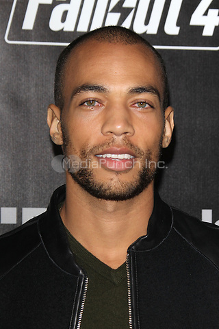 LOS ANGELES, CA - NOVEMBER 5: Kendrick Sampson at the Fallout 4 video game launch event in downtown Los Angeles on November 5, 2015 in Los Angeles, California. Credit: mpi21/MediaPunch