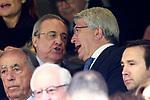 Real Madrid's President Florentino Perez (l) and Atletico de Madrid's President Enrique Cerezo during La Liga match. April 8,2018. (ALTERPHOTOS/Acero)