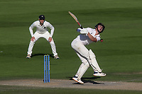 Sussex batsman, Ali Orr, feels the pain after being struck by a ball from Middlesex bowler, Martin Andersson during Sussex CCC vs Middlesex CCC, LV Insurance County Championship Division 3 Cricket at The 1st Central County Ground on 7th September 2021
