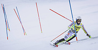 22nd December 2020, Madonna di Campiglio, Italy; FIS Mens slalom world cup race; Linus Strasser of Germany in action during his 2nd run of mens Slalom