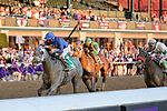 November 6, 2020: Essential Quality, ridden by Luis Saez, wins the TVG Juvenile Presented By Thoroughbred Aftercare Alliance on Breeders' Cup Championship Friday at Keeneland on November 6, 2020, in Lexington, Kentucky. Matt Wooley/Eclipse Sportswire/Breeders Cup/CSM
