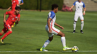 Portland, OR - Wednesday August 09, 2017: Jaylin Lindsey during friendly match between the USMNT U17's and Chile u17's at Nike World Headquarters in Portland, OR.