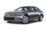 Stock pictures of low aggressive front three quarter view of 2016 Volkswagen Passat 3.6L-SEL-Premium-Auto 4 Door Sedan Low Aggressive