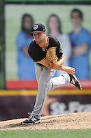 Erie Sea Wolves pitcher Guido Knudson (33) during game against the Trenton Thunder at ARM & HAMMER Park on May 15, 2014 in Trenton, NJ.  Erie defeated Trenton 4-2.  (Tomasso DeRosa/Four Seam Images)