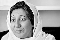Afghan human rights activist Dr. Sima Samar photographed in her home in Kabul on June 23, 2002. She was Minister for Women' s Affairs in the newly formed transitional government of her country until August 2002, when she was appointed to her current position as Chairperson of the Afghan Human Rights Commission.