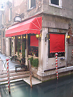 ITALY--VENICE--Red Cafes