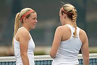 SAN ANTONIO, TX - FEBRUARY 3, 2012: The Midwestern State University Mustangs vs. The University of Texas at San Antonio Roadrunners Women's Tennis at the UTSA Tennis Center. (Photo by Jeff Huehn)