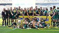 Leicester Tigers celebrate winning the Aviva Premiership Final between Leicester Tigers and Northampton Saints at Twickenham Stadium on Saturday 25th May 2013 (Photo by Rob Munro)