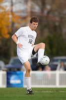 Kevin Davis (18) of the Monmouth Hawks. Dartmouth defeated Monmouth 4-0 during the first round of the 2010 NCAA Division 1 Men's Soccer Championship on the Great Lawn of Monmouth University in West Long Branch, NJ, on November 18, 2010.