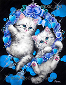 Kayomi, CUTE ANIMALS, LUSTIGE TIERE, ANIMALITOS DIVERTIDOS, paintings+++++,USKH333,#ac#, EVERYDAY ,cat,cats