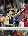 September  1, 2018:  Maria Sharapova (RUS) defeated Jelena Ostapenko (LAT)  6-3, 6-2, at the US Open being played at Billy Jean King Ntional Tennis Center in Flushing, Queens, New York. Karla Kinne/Tennisclix