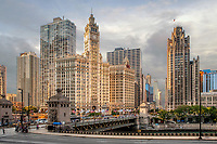 Chicago Downtown - Wrigley Building Chicago River