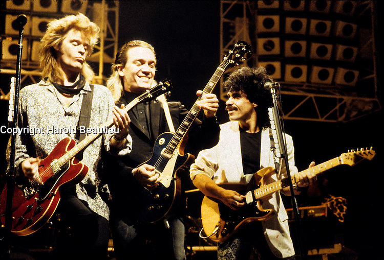 FILE PHOTO (Exact date unknown) - hall and oates <br /> in the eighties<br /> <br /> PHOTO : Harold Beaulieu -  Agence Quebec Presse