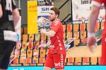 Ludwigshafens Dominik Mappes (Nr.25) am Ball beim Spiel in der Handball Bundesliga, Die Eulen Ludwigshafen - Tusem Essen.<br /> <br /> Foto © PIX-Sportfotos *** Foto ist honorarpflichtig! *** Auf Anfrage in hoeherer Qualitaet/Aufloesung. Belegexemplar erbeten. Veroeffentlichung ausschliesslich fuer journalistisch-publizistische Zwecke. For editorial use only.