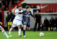 MAXWELL (psg) - Etienne CAPOUE (tou) .Parigi 17/9/2012.Football Calcio 2012/2013 Ligue 1.Psg Vs Tolosa.Foto Anthony Bibard / Panoramic / Insidefoto.ITALY ONLY