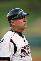 September 6 2009:  Carlos Lezcano, manager of the Lake Elsinore Storm, during game against the San Jose Giants at The Diamond in Lake Elsinore,CA.  Photo by Larry Goren/Four Seam Images