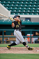 Pittsburgh Pirates Mason Martin (25) follows through on a swing during a Florida Instructional League game against the Detroit Tigers on October 6, 2018 at Joker Marchant Stadium in Lakeland, Florida.  (Mike Janes/Four Seam Images)