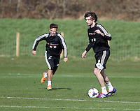 Pictured: Michu (R). Saturday 08 March 2014<br />