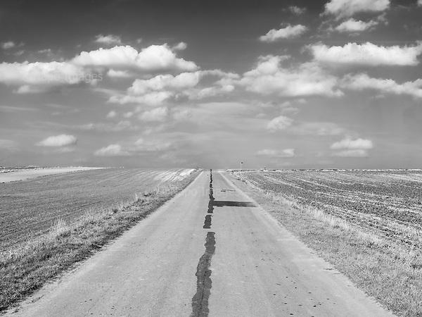 Boncza 18.10.2019 Poland<br /> A road. Eastern Poland.<br /> Photo: Adam Lach