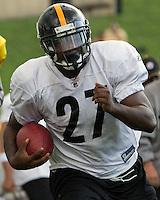 Jonathan Dwyer, Pittsburgh Steelers running back. Training camp, August 11, 2011 at Latrobe, Pennsylvania.