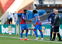 12th September 2020; Selhurst Park, London, England; English Premier League Football, Crystal Palace versus Southampton; Jeffrey Schlup of Crystal Palace is subbed off for Eberechi Eze of Crystal Palace