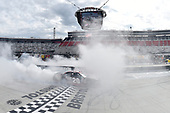 NASCAR Xfinity Series<br /> Fitzgerald Glider Kits 300<br /> Bristol Motor Speedway, Bristol, TN USA<br /> Saturday 22 April 2017<br /> Erik Jones, Reser's American Classic Toyota Camry, does a burnout after winning.<br /> World Copyright: John K Harrelson<br /> LAT Images<br /> ref: Digital Image 17BRI1jh_03360