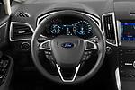 Car pictures of steering wheel view of a 2021 Ford Galaxy Titanium 5 Door Minivan Steering Wheel