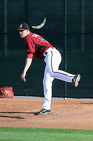 Patrick Corbin of the Arizona Diamondbacks participates in the first day of spring training workouts at Salt River Fields on February 7, 2014 in Scottsdale, Arizona (Bill Mitchell)