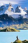 Hiker, Torres del Paine National Park, Chile