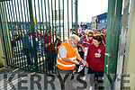 The Causeway suporters enter the stadium before the Kerry County Senior Hurling Championship Final match between Kilmoyley and Causeway at Austin Stack Park in Tralee