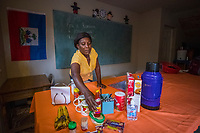 Haiti, Gros-Morne. Suzette, the housekeeper at Mercy Beyond Borders and literacy student.