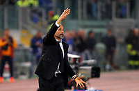 Calcio, Serie A: Roma vs Juventus. Roma, stadio Olimpico, 14 maggio 2017. <br /> Roma's coach Luciano Spalletti gives indications to his players during the Italian Serie A football match between Roma and Juventus at Rome's Olympic stadium, 14 May 2017. Roma won 3-1.<br /> UPDATE IMAGES PRESS/Riccardo De Luca