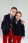 WATERBURY, CT- 10 December 2015-121015EC16-  Christmas Kids Metro. Trey Vance, 6, and his brother Liam, 4, are from Watertown. Their favorite part of Christmas is the relatives who visit. They want some Power Rangers toys for Christmas. Erin Covey Republican-American