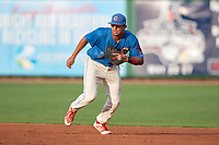 Clearwater Threshers first baseman Darick Hall (21) during a game against the Fort Myers Miracle on May 31, 2018 at Spectrum Field in Clearwater, Florida.  Clearwater defeated Fort Myers 5-1.  (Mike Janes/Four Seam Images)