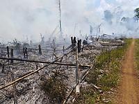 Queimada na comunidade da Pancada no território quilombola do Erepecuru
