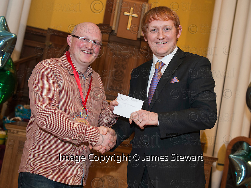 """Litter Strategy Awards 2013 : Councillor Craig R Martin presents the """"New & Will Do"""" award to joint winners, Friends of Rannoch Park."""
