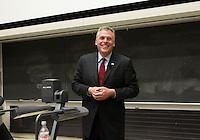 Gubernatorial candidate Terry McAuliffe visits the University of Virginia in Charlottesville, VA. Photo/Andrew Shurtleff