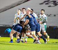 20th November 2020; AJ Bell Stadium, Salford, Lancashire, England; English Premiership Rugby, Sale Sharks versus Northampton Saints;   Jean-Luc du Preez of Sale Sharks makes a tackle