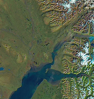 satellite image of Anchorage Alaska