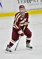 10 February 2012: Boston College Eagles defenseman Patch Alber, a Junior from Clifton Park, NY, in action against the University of Vermont Catamounts at Gutterson Fieldhouse in Burlington, Vermont. The Eagles defeated the Catamounts 6-1 in their Hockey East matchup. Mandatory Credit: Ed Wolfstein Photo