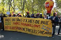 MANIFESTATION ANTI-LOI TRAVAIL EN FRANCE, PARIS, FRANCE 21/09/2017