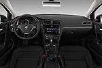 Stock photo of straight dashboard view of 2018 Volkswagen Golf-Variant Comfortline 5 Door Wagon Dashboard