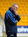 St Johnstone v Kilmarnock.....09.03.13      SPL.A thoughtful Kenny Shiels.Picture by Graeme Hart..Copyright Perthshire Picture Agency.Tel: 01738 623350  Mobile: 07990 594431