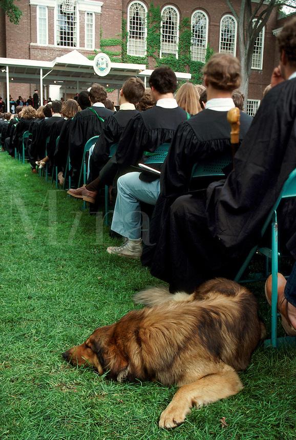 Graduation at Dartmoutn College. Hanover NH.