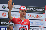 Tim Wellens (BEL) Lotto-Soudal at sign on before the start of the 99th edition of Milan-Turin 2018, running 200km from Magenta Milan to Superga Basilica Turin, Italy. 10th October 2018.<br /> Picture: Eoin Clarke | Cyclefile<br /> <br /> <br /> All photos usage must carry mandatory copyright credit (© Cyclefile | Eoin Clarke)