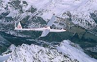 Segelflug, Duo Diskus, Frankreich, Alpen