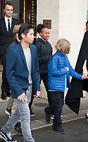 January 30 2018, PARIS FRANCE<br /> Actress Angelina Jolie leaves the Hotel Meurice in Paris With her children. # ANGELINA JOLIE A PARIS