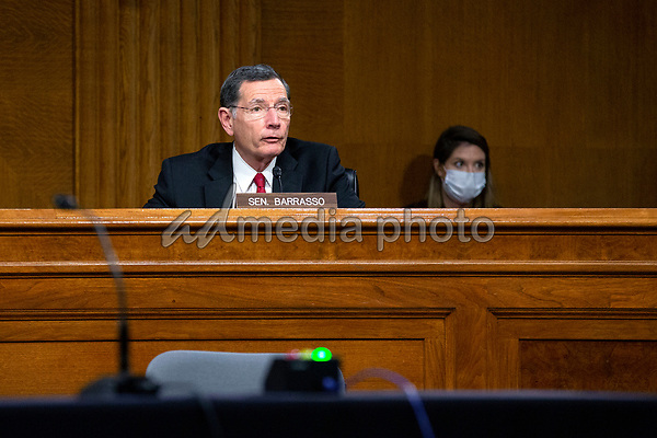 United States Senator John Barrasso (Republican of Wyoming) speaks during the U.S. Senate Committee on Energy and Natural Resources hearing on Capitol Hill in Washington D.C., U.S., as they consider the nomination of Mark Menezes to be Deputy Secretary of the U.S. Department of Energy on Wednesday, May 20, 2020.  Credit: Stefani Reynolds / CNP/AdMedia