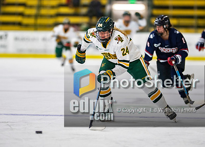 9 February 2020: University of Vermont Catamount Forward Corinne McCool, a Sophomore from West Roxbury, MA, in second period action against the University of Connecticut Huskies at Gutterson Fieldhouse in Burlington, Vermont. The Lady Cats defeated the Huskies 6-2 in the second game of their weekend Hockey East series. Mandatory Credit: Ed Wolfstein Photo *** RAW (NEF) Image File Available ***