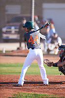 Andrew Pompa (44), from Dinuba, California, while playing for the Giants during the Under Armour Baseball Factory Recruiting Classic at Gene Autry Park on December 30, 2017 in Mesa, Arizona. (Zachary Lucy/Four Seam Images)